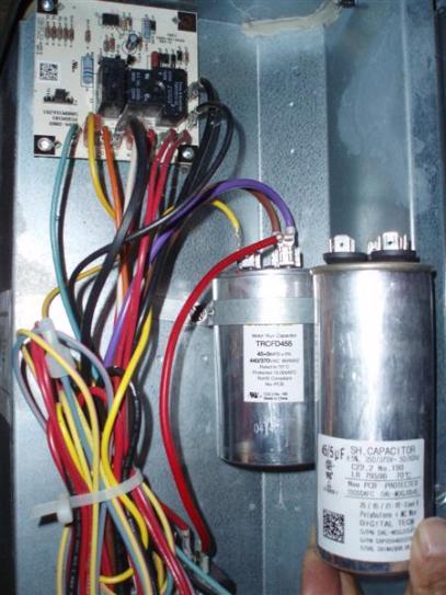 run capacitor wiring packard 440 volt 45 5 mfd dual rated motor run round capacitor motor run capacitor wiring diagram packard 440 volt 45 5 mfd dual rated
