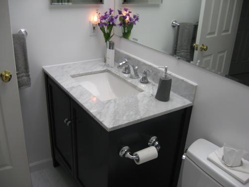 Home Decorators Collection 37 In W Marble Vanity Top Carrara With Trough Sink 27108 At The Depot Mobile