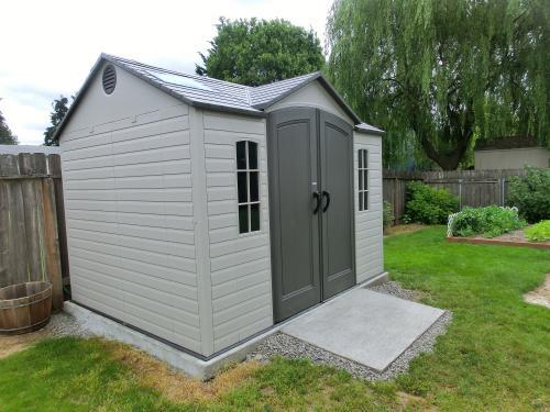 lifetime 10 ft x 8 ft outdoor garden shed 60005 at the home depot rh homedepot com backyard storage sheds home depot backyard discovery shed home depot