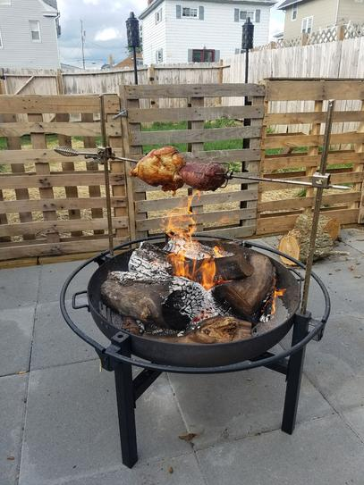 Customer Images (11) - RiverGrille Cowboy 31 In. Charcoal Grill And Fire Pit GR1038-014612