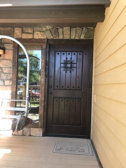 Main Door 36 In. X 80 In. Rustic Mahogany Type Right-Hand
