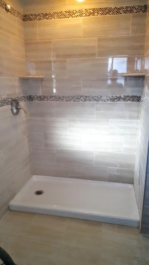 Lyons Industries Elite 54 In X 27 In Single Threshold Shower Base With Left Drain In White Leb015427l At The Home Depot Mobile