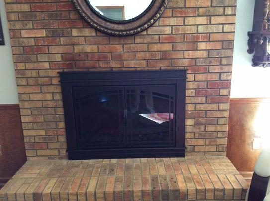 Pleasant Hearth At 1000 Ascot Fireplace Glass Door Black Small