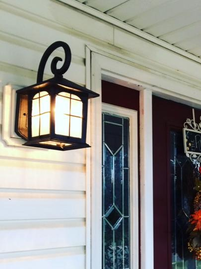 Home Decorators Collection Brimfield 1 Light Aged Iron Outdoor Wall Lantern Hb48023pa 151 At The Depot Mobile