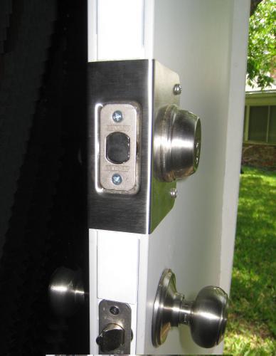 Customer Images (2). Stainless Steel Door Reinforcer & Prime-Line 1-3/4 in. Thick Stainless Steel Recessed Door Reinforcer ...