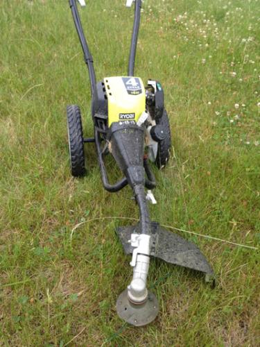 Ryobi 4-Cycle 30cc Gas Wheeled Trimmer RY13016 at The Home ...