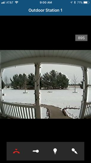 View from a smartphone. Note wide view. Video from tablet includedas well