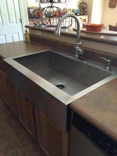 Kohler Vault Farmhouse A Front Stainless Steel 36 In 4 Hole Single Bowl Kitchen Sink K 3942 Na At The Home Depot Mobile