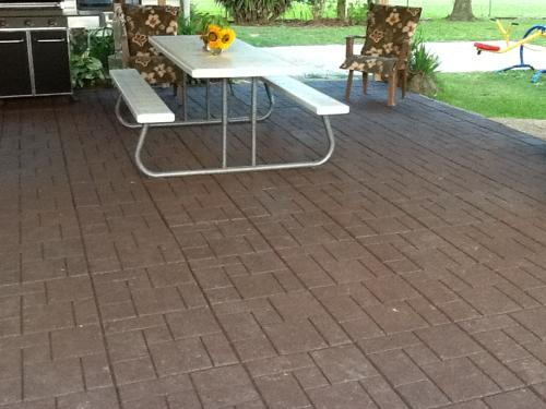 Envirotile Cobblestone 18 In. X 18 In. Terra Cotta Rubber Paver MT5000638  At The Home Depot   Mobile