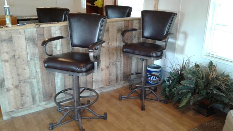 Norton Leather Bar Stools