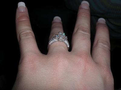 helzberg radiant star 1 ct tw three stone diamond ring in 14k white gold 1688926 - Helzberg Wedding Rings