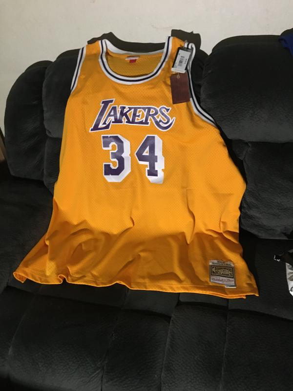 Mitchell & Ness Men's Los Angeles Lakers Shaquille O'Neal Big ...