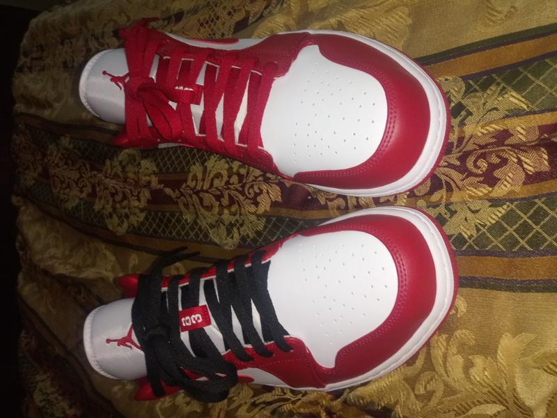 Jordan 1 Low Gym Red White Men S Shoe Hibbett City Gear