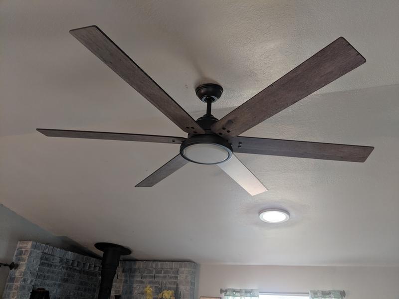 Warrant With Led Light 70 Inch Ceiling Fan Hunter Fan