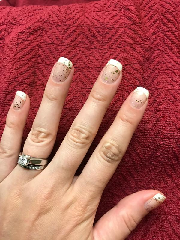 Strike Gold Nail Polish Liqués Glitter Top Coat Incoco