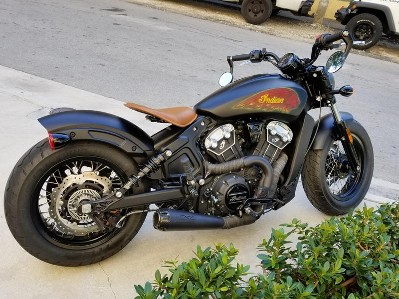 Custom Wrapped Exhaust Disc Brakes Mid Controls