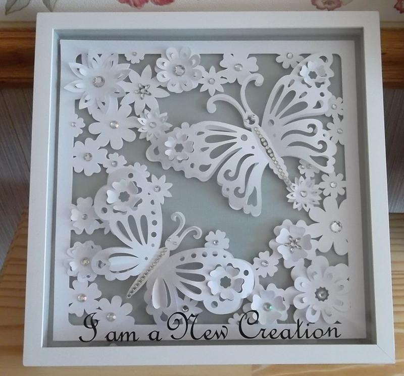 Shadow Box Frame With Flowers