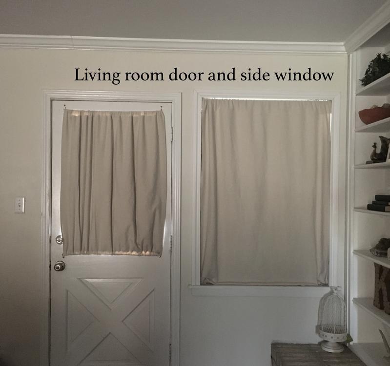 West Facing Living Room Window And Door