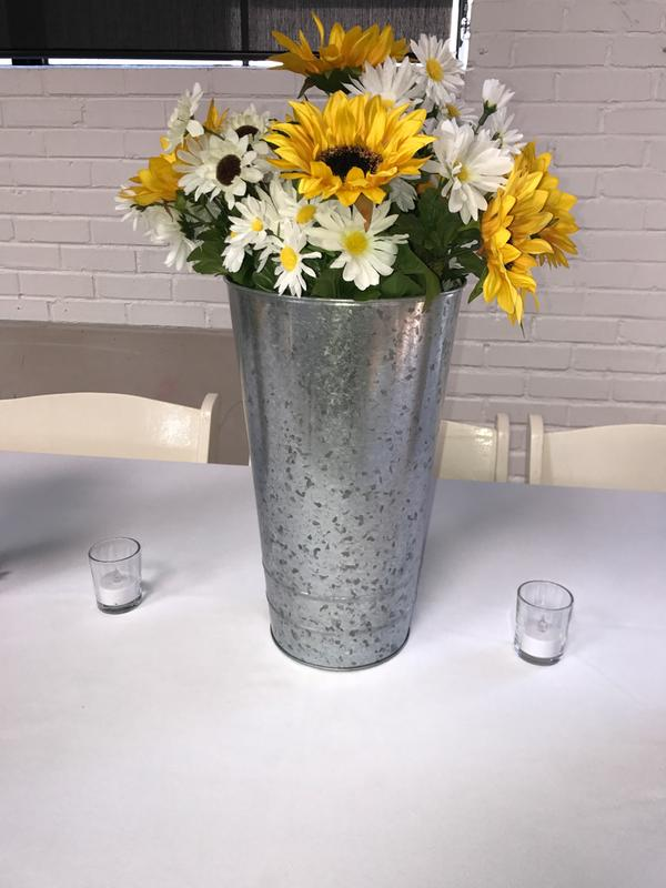 Galvanized Flower Vase Vase And Cellar Image Avorcor