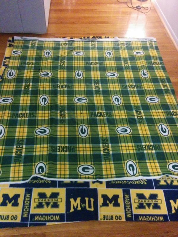 Green Bay Packers Fleece Fabric 58