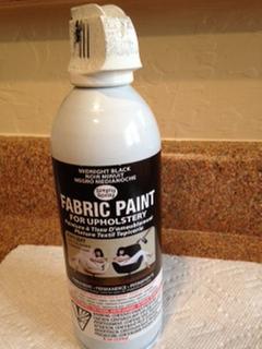Upholstery Spray Fabric Paint 8oz Midnight Black Joann