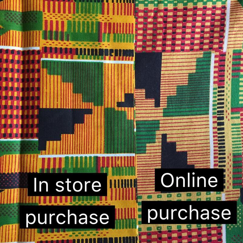 Kente Print Scarf and Decor Item Pattern 4
