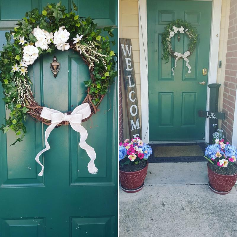 ... Love It Photo This Action Will Open A Modal Dialog Double Magnetic  Wreath Hanger Front Door Holder Double ...