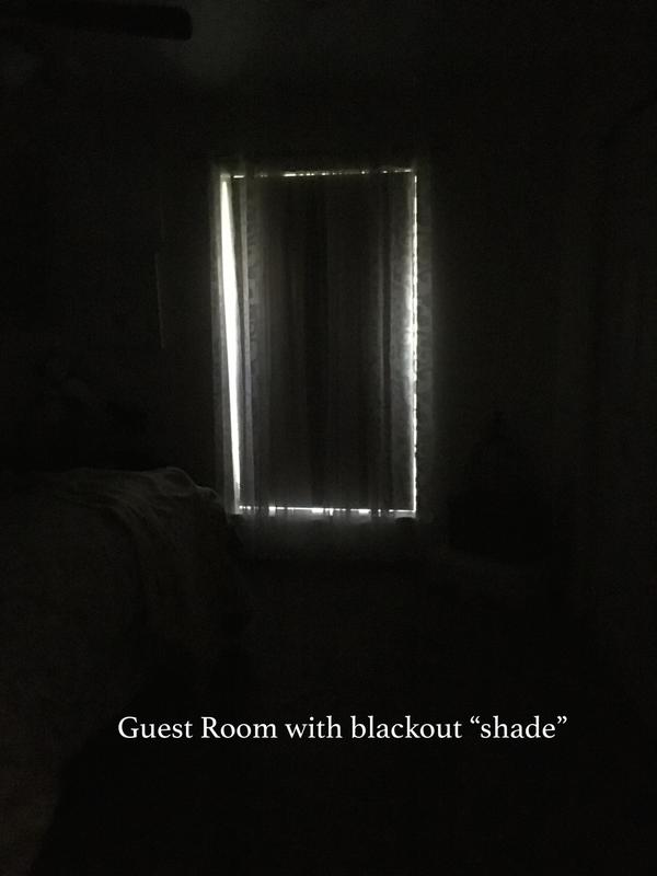 Guest Room With Shade Pulled Down