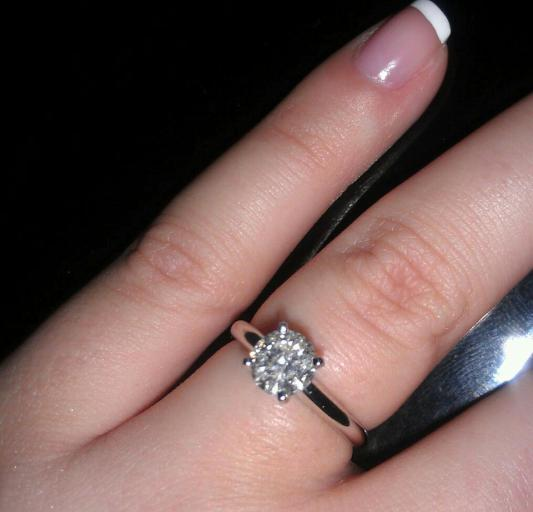 Diamond Solitaire Ring 1 Carat Round Cut 14k White Gold Jared