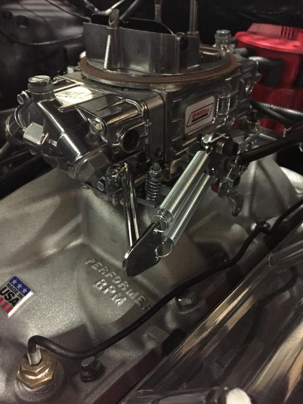 Steel Natural Throttle Return Spring FiTe Bracket Included Dual Spring