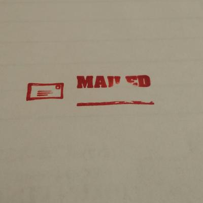 035583 1-Color ACCU-STAMP2 Message Stamp with Shutter 1 FAXED Red Ink Pre-Ink 1-5//8 x 1//2 Impression