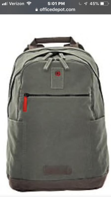 Wenger Arundel Laptop Backpack Olive Item 746402