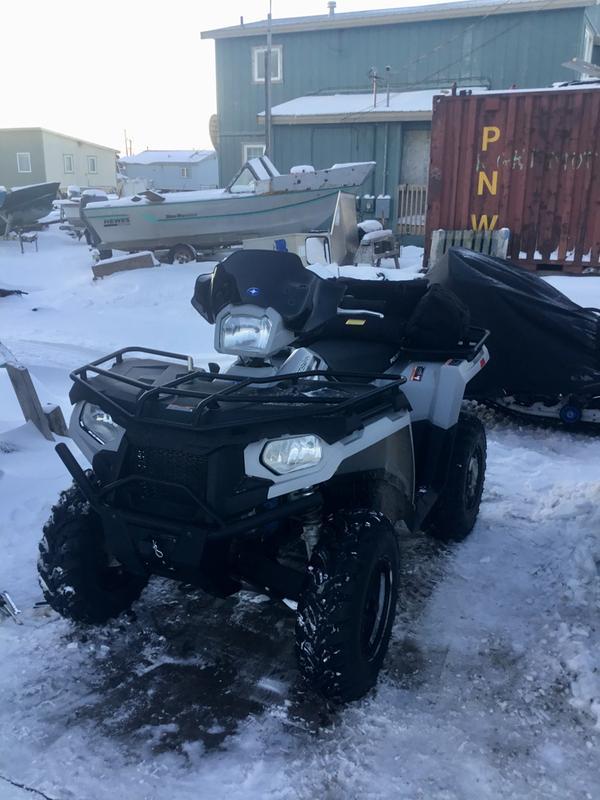 Polaris Lock & Ride Low Windshield Black Motorcycle & ATV ...