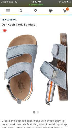 3fc7cc65e OshKosh Cork Sandals