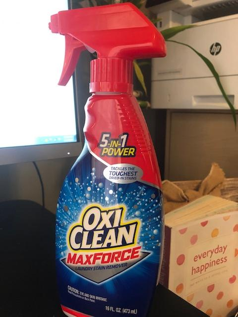 Heavy Duty Stain Remover Laundry Spray Oxiclean Max Force