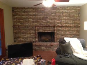 Lowe S Painted Brick Fireplace Makeover Customer Stories