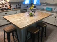 6-ft Natural Straight Butcher Block Birch Kitchen Countertop