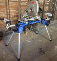 Kobalt Steel Adjustable Rolling Miter Saw Stand at Lowes com