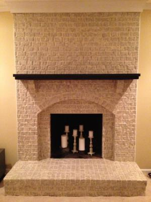 How to paint brick jamie priming the fireplace large shot fireplace cleaning painting a fireplace
