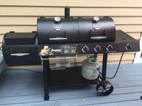 Oklahoma Joe's Longhorn Black Triple-Function Combo Grill at