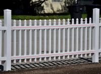 Actual 2 83 Ft X 7 63 Pre Embled Newport White Vinyl Gothic Decorative Fence Panel