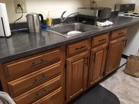 Wilsonart 8-ft Deepstar Slate Straight Laminate Kitchen Countertop