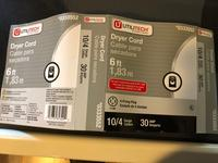 Utilitech 4-Prong Black Dryer Appliance Power Cord at Lowes com