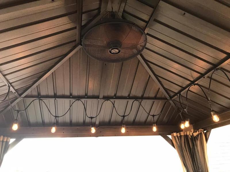 Allen Roth Ceiling Fan For Gazebo 20 In 3 Speed 3 Blades Bronze L1120h Rona