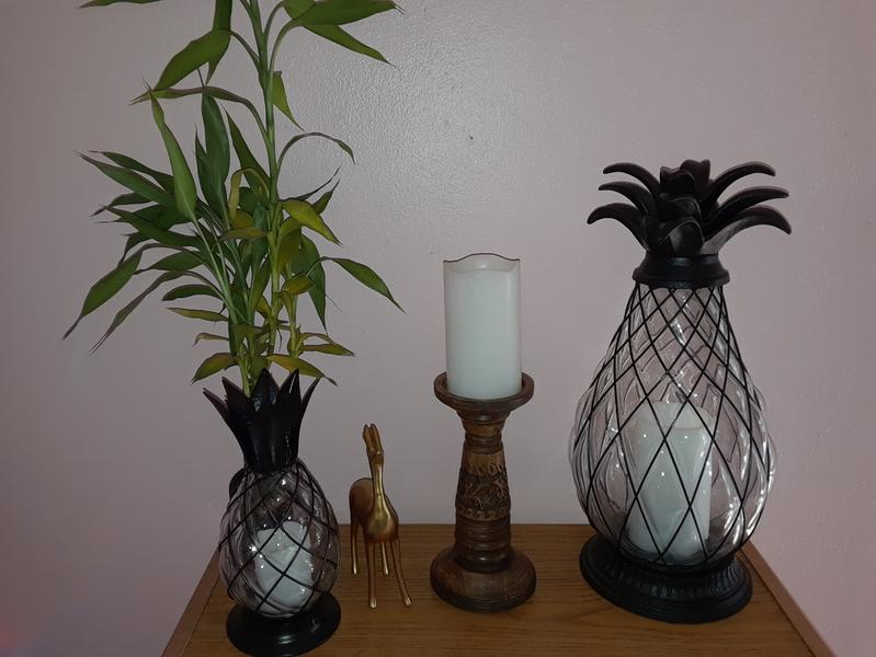 The Lakeside Collection Pineapple Hurricane Candle Lantern