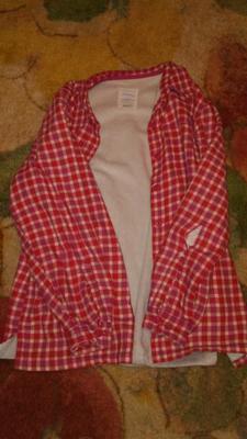 4548c580 Bittersweet Medium Fleece Lined Flannel Shirt Plaid Misses Regular