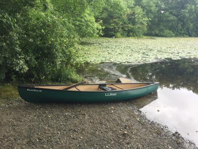L L Bean Royal River Solo Canoe, 13'