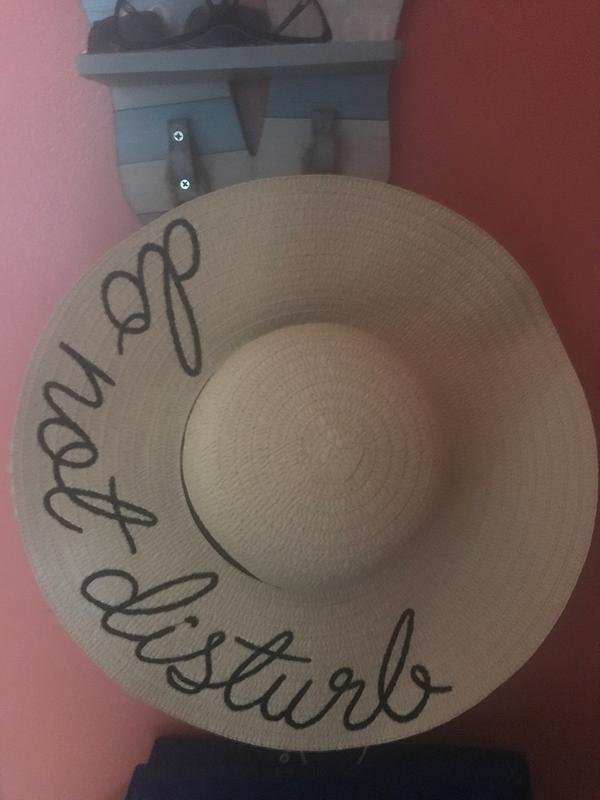 105afd7136a Embroidered Sentiment Floppy Sun Hats