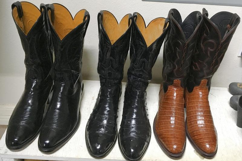 My Beautiful Lucchese Boots - The middle pair are over Twenty Years Old!