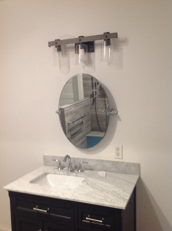 glenshire brushed nickel mirror